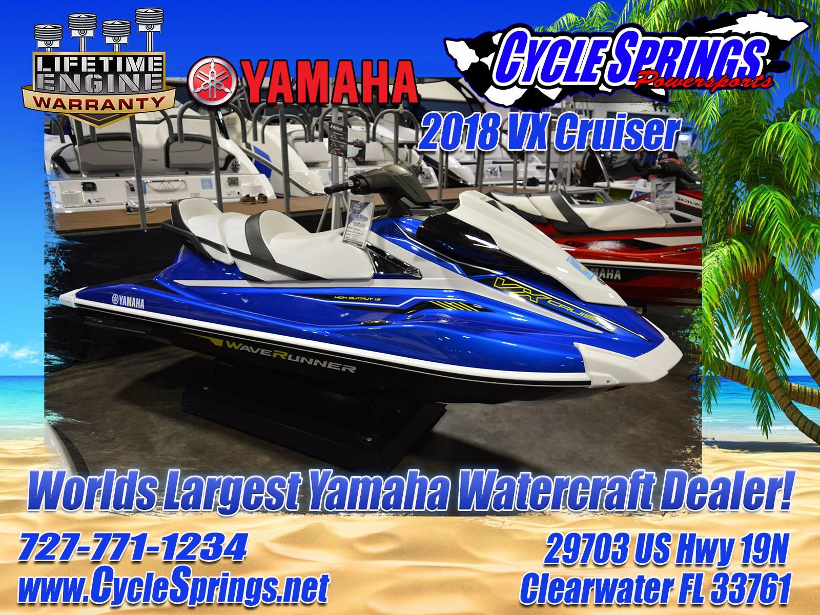 New 2018 Yamaha VX Cruiser Watercraft in Clearwater FL