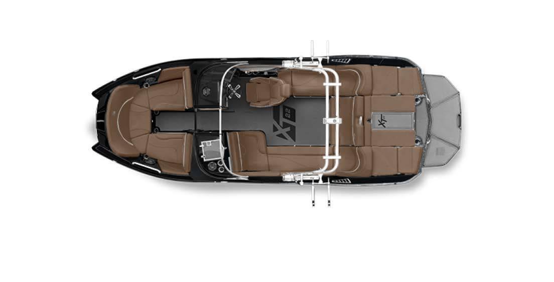 2019 Mastercraft Xt22 Black Gunmetal Silver Power Boats Inboard
