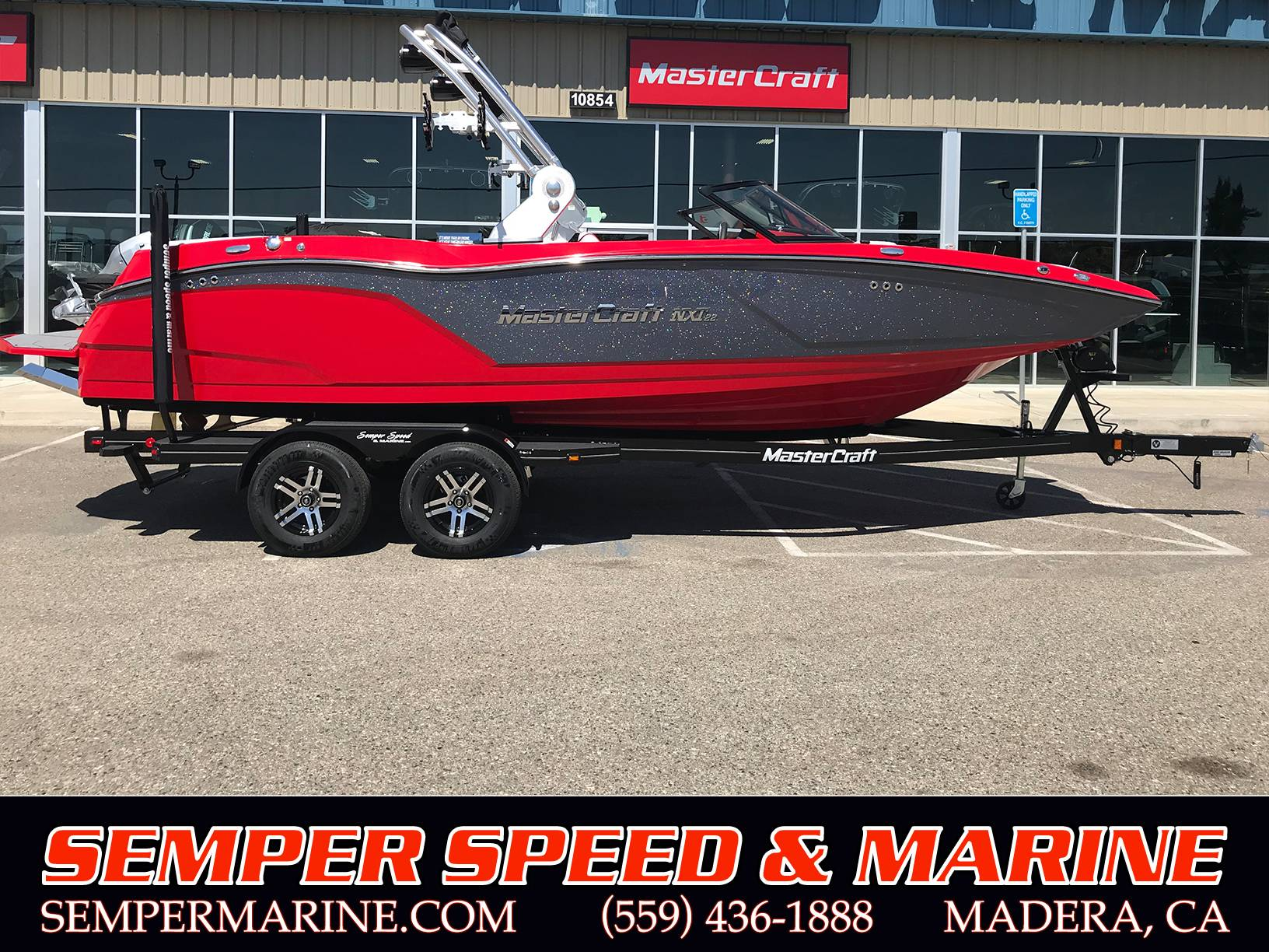 2019 Mastercraft NXT22 Red & Gunmetal Flake Power Boats