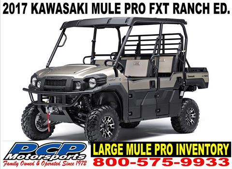 2017 Kawasaki Mule PRO-FXT Ranch Edition in Sacramento, California