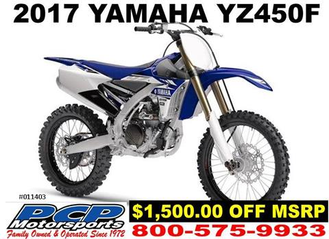 2017 Yamaha YZ450F in Sacramento, California