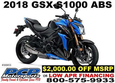 2018 Suzuki GSX-S1000 ABS in Sacramento, California