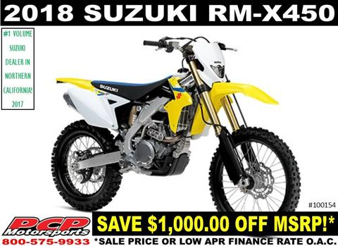 2018 Suzuki RMX450Z in Sacramento, California