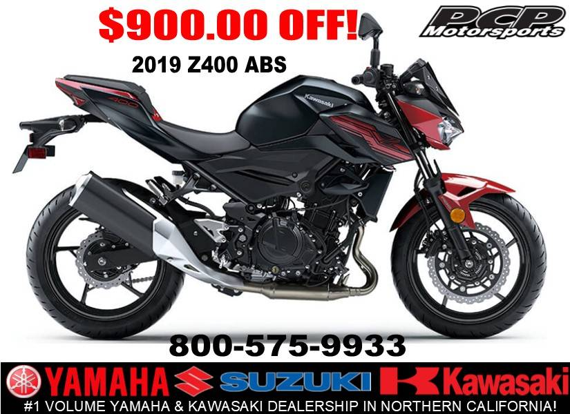 2019 Kawasaki Z400 ABS in Sacramento, California - Photo 1