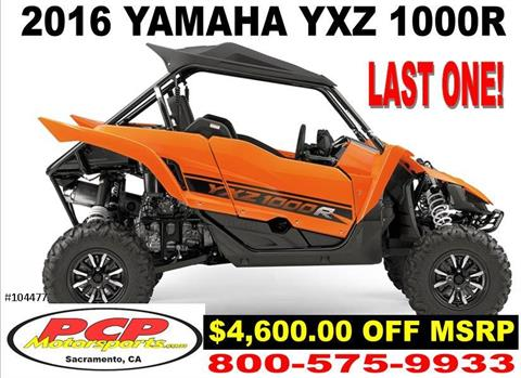 2016 Yamaha YXZ1000R in Sacramento, California