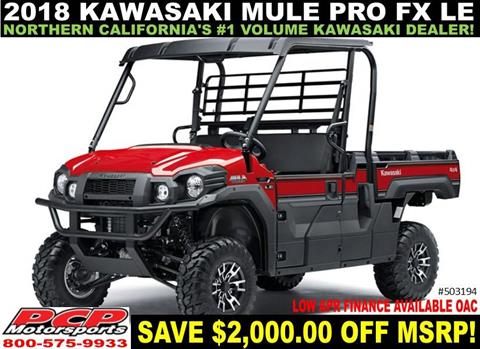 2018 Kawasaki Mule PRO-FX EPS LE in Sacramento, California - Photo 1