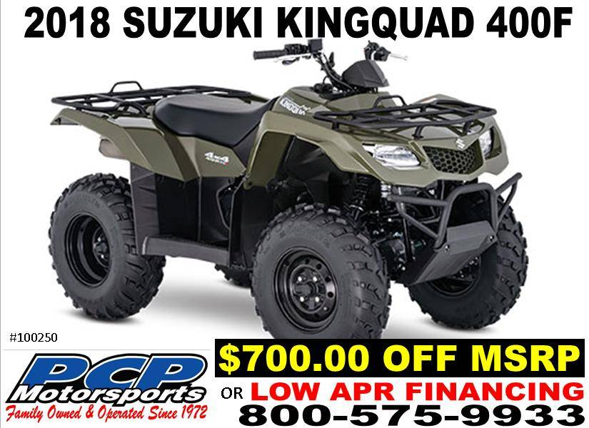 2018 Suzuki KingQuad 400FSi in Sacramento, California