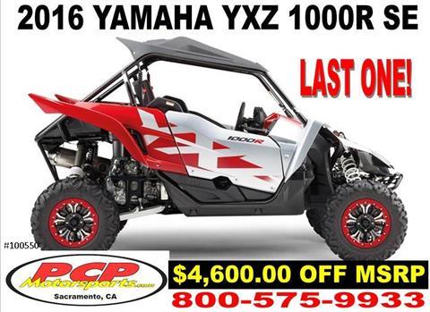2016 Yamaha YXZ1000R SE in Sacramento, California