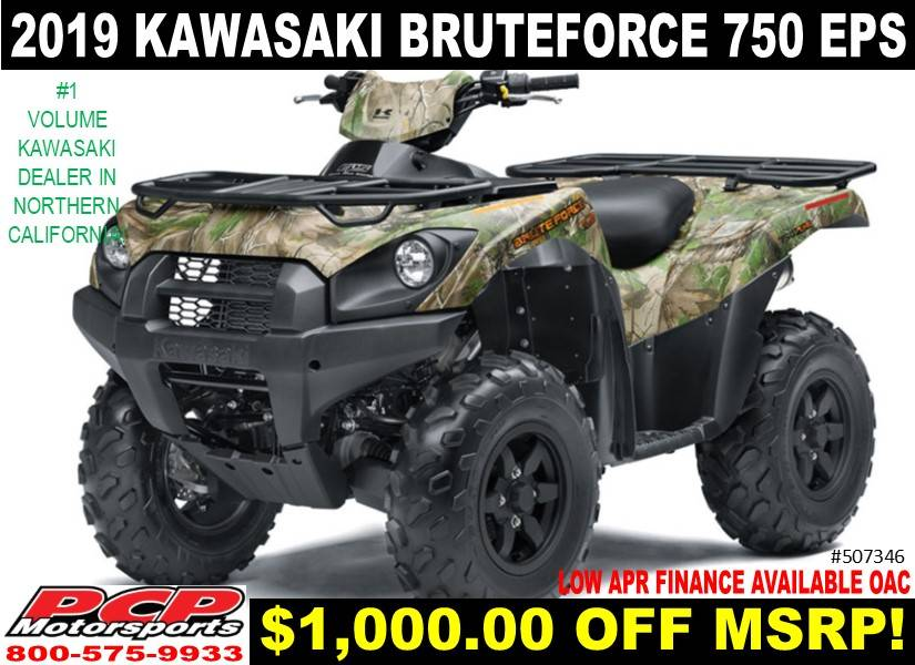 2019 Kawasaki Brute Force 750 4x4i EPS Camo for sale 86464