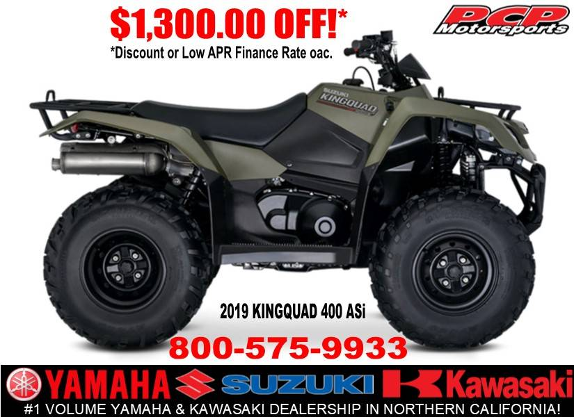 2019 Suzuki KingQuad 400ASi in Sacramento, California - Photo 1