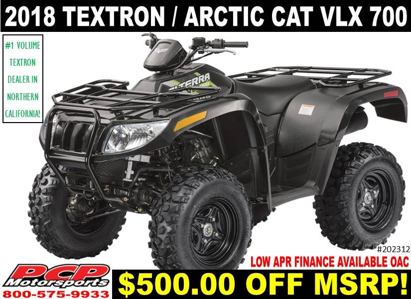 2018 Textron Off Road Alterra VLX 700 in Sacramento, California
