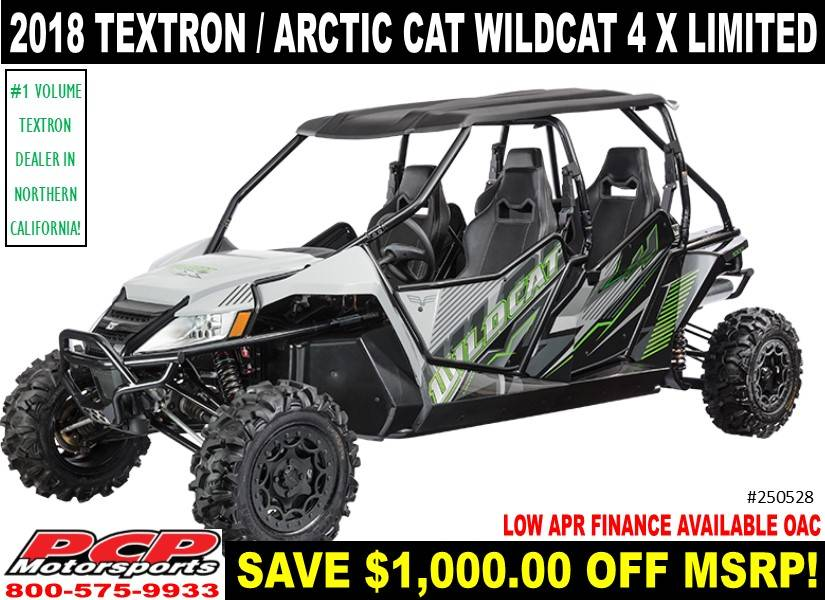 2018 Textron Off Road Wildcat 4X LTD in Sacramento, California