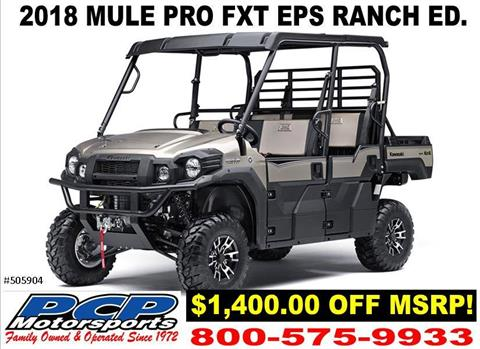 2018 Kawasaki Mule PRO-FXT RANCH EDITION in Sacramento, California