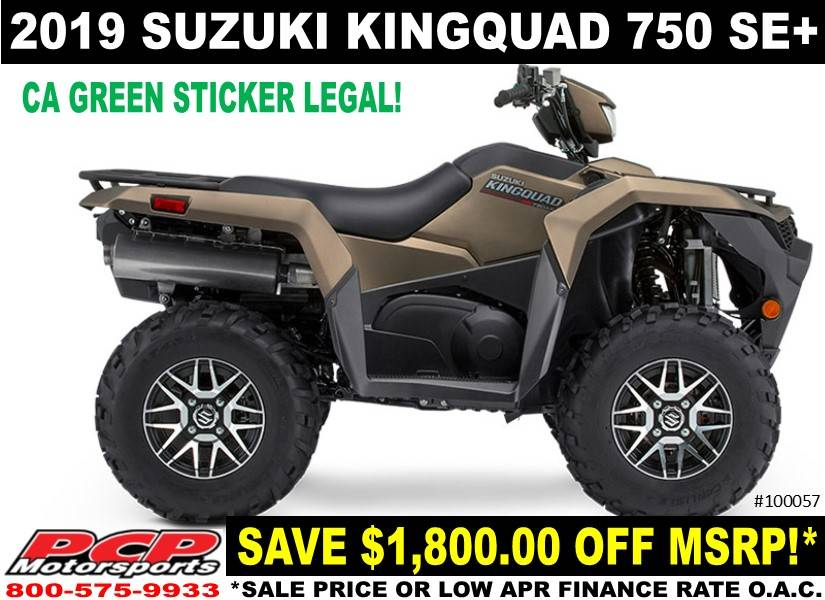 2019 Suzuki KingQuad 750AXi Power Steering SE+ in Sacramento, California