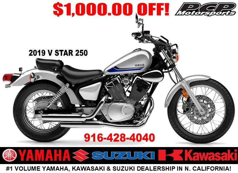 2019 Yamaha V Star 250 in Sacramento, California - Photo 1