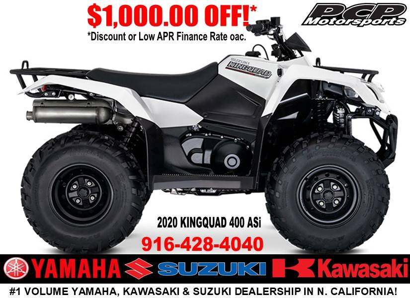 2020 Suzuki KingQuad 400ASi in Sacramento, California - Photo 1