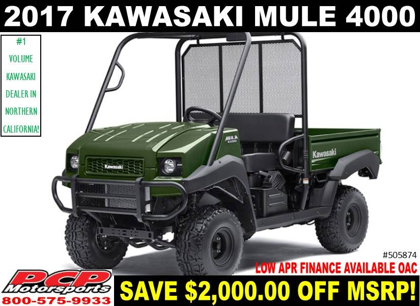 2017 Kawasaki Mule 4000 in Sacramento, California
