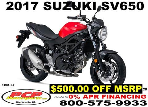 2017 Suzuki SV650 in Sacramento, California
