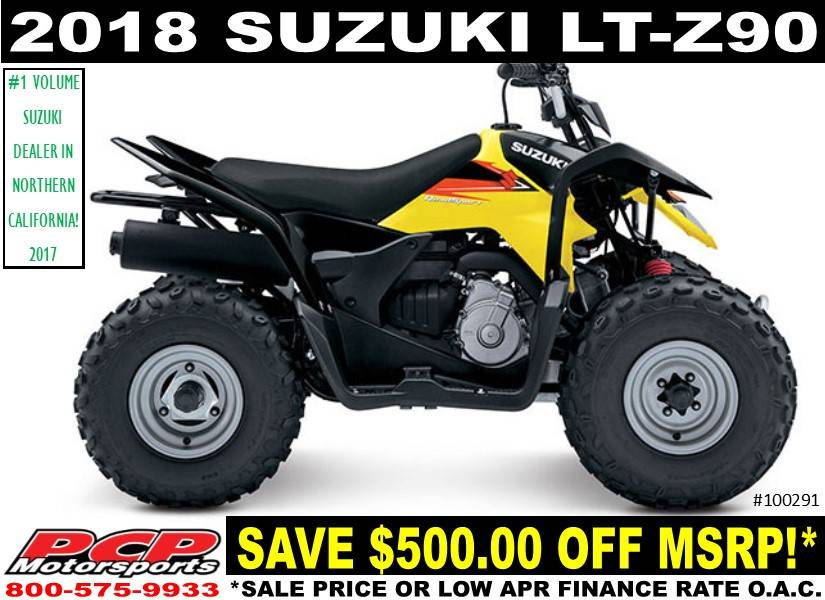 New 2018 Suzuki QuadSport Z90 ATVs in Sacramento, CA | Stock Number ...
