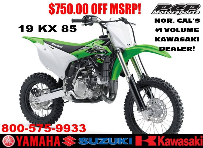 2019 Kawasaki KX 85 in Sacramento, California - Photo 1