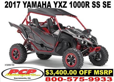 2017 Yamaha YXZ1000R SS SE in Sacramento, California