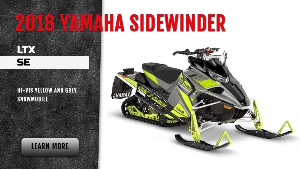 2018 Yamaha Sidewinder LTX SE in hi vis yellow and grey-snowmobile