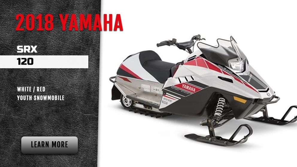 2018 Yamaha SRX120 white/red-youth snowmobile