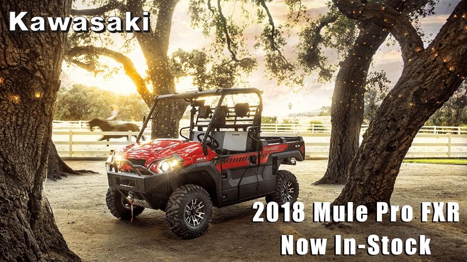 2018 Mule Pro FXR Now In-Stock