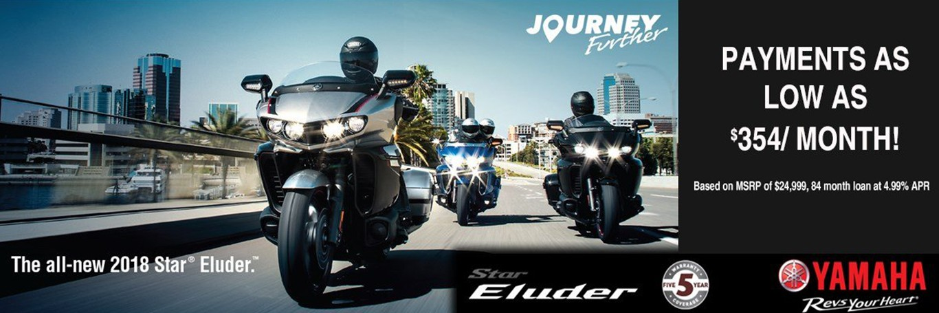 Journey Further on a new Yamaha Star Eluder from Donahue Super Sports, Wisconsin Rapids, WI