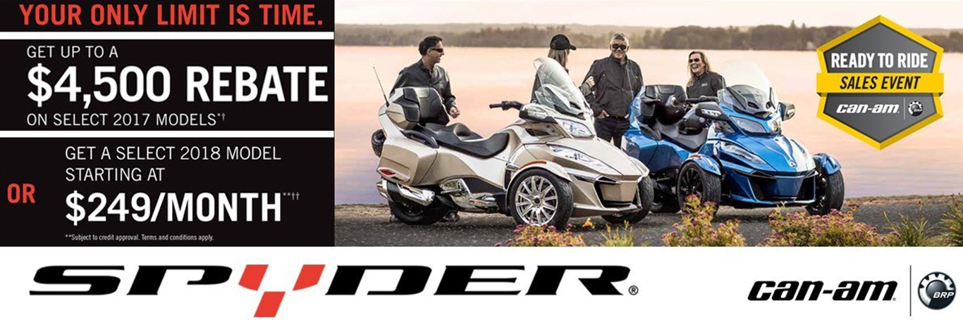 $4500 Rebate on Can-Am Spyder from Donahue Super Sports, Wisconsin Rapids, WI