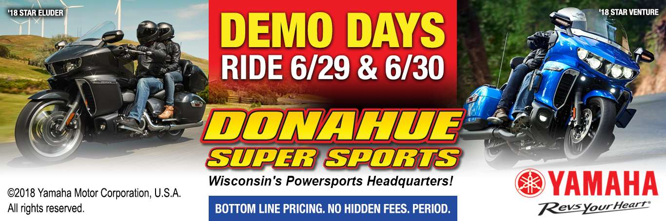 Donahue Super Sports Yamaha Motorcycle Demo Days