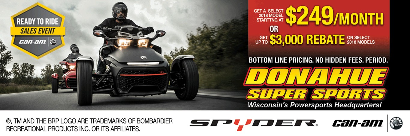 Donahue Super Sports Can-Am Spyder Ready to Ride Sales Event