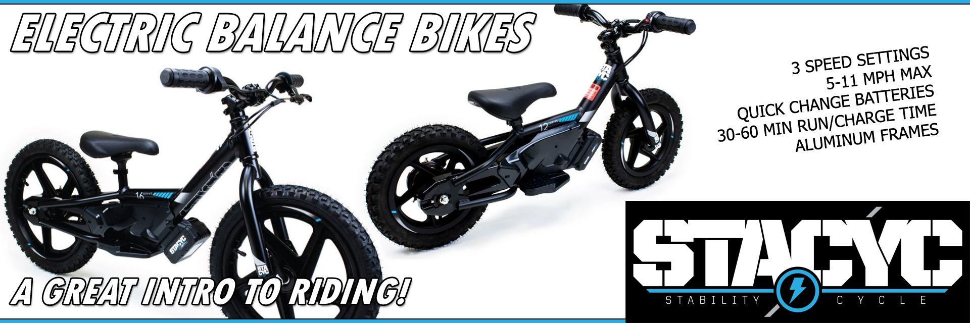 STACYC electric balance bikes