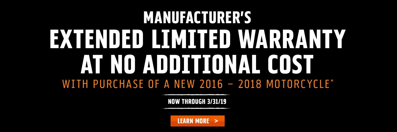 Extended Limited Warranty at No Additional Cost at H-D Utica