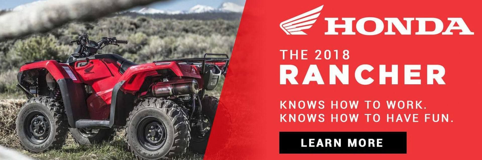 Shop Honda Rancher ATVs at Christman's Cycle Sales in Palatine Bridge, NY