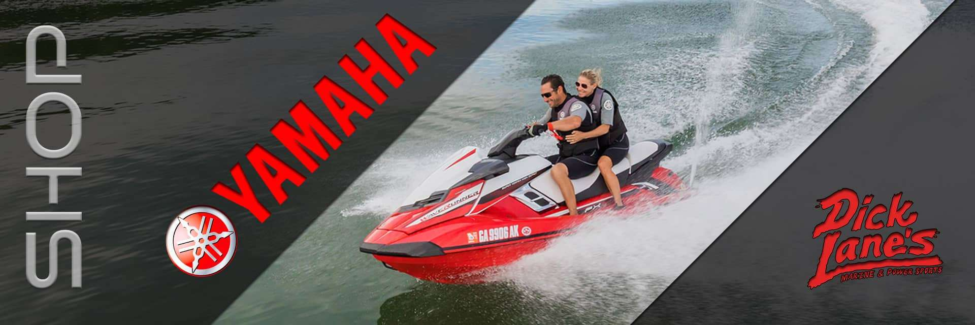 Yamah Waverunners are sold at Dick Lane's Marine and Powersports