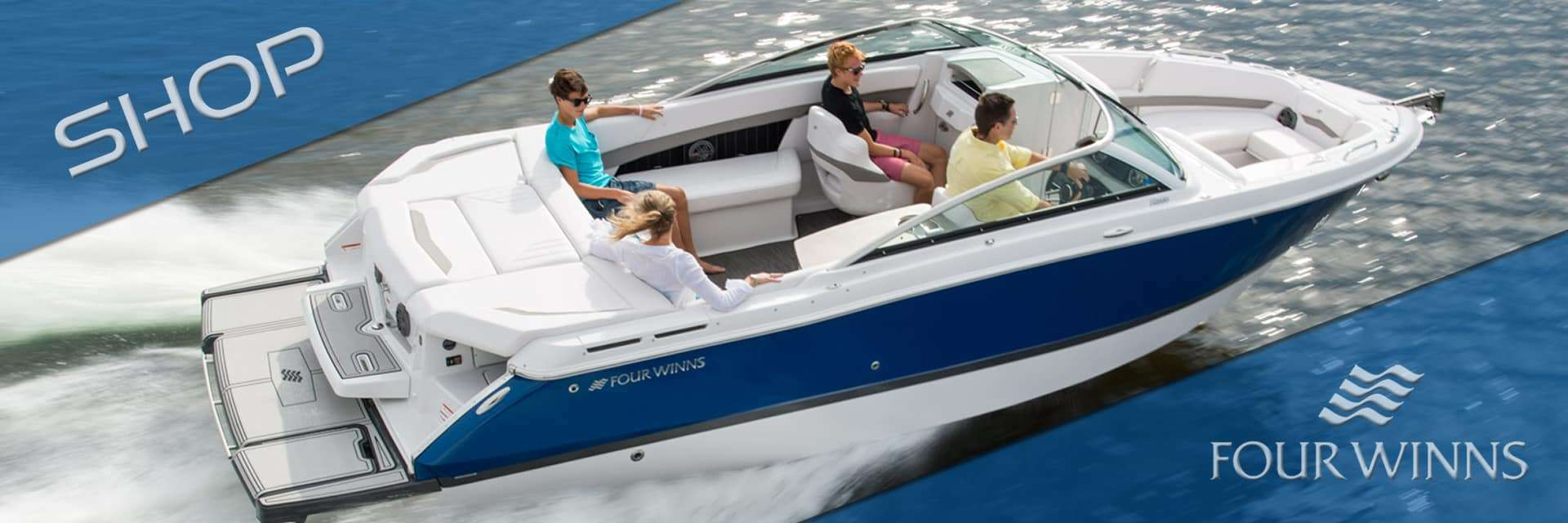 Four Winns is sold at Dick Lane's Marine and Powersports