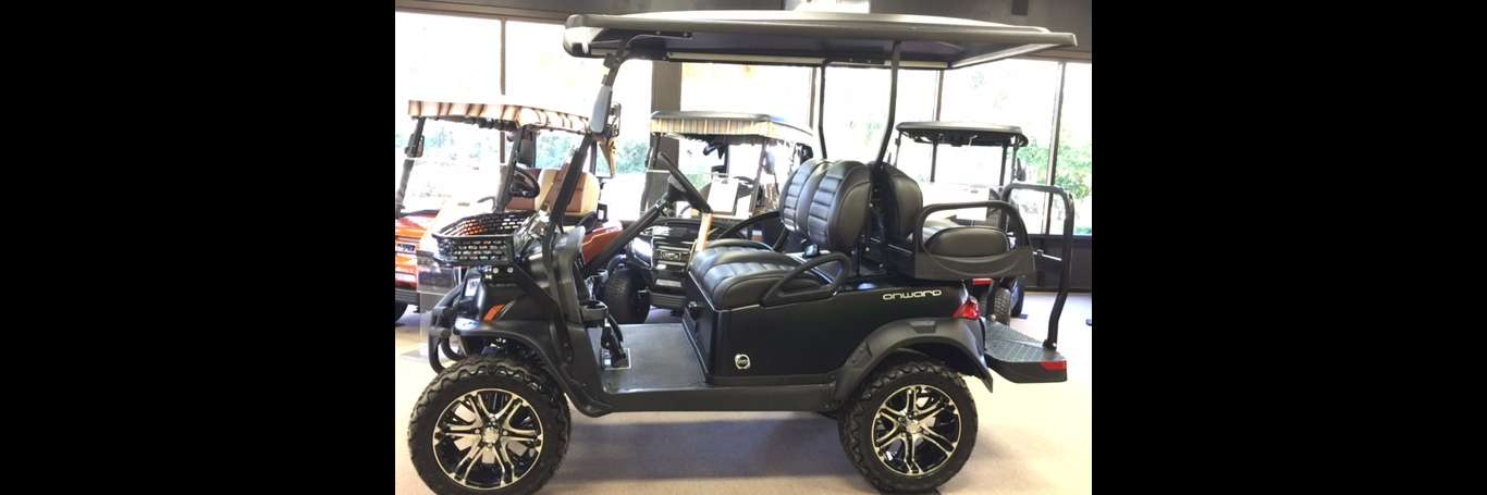 Matte Black Onward sold at Club Car Hilton Head.