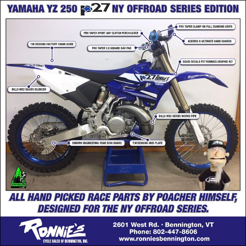 Ronnie's Cycle Bennington, Vermont, Honda, Kawaski, Yamaha