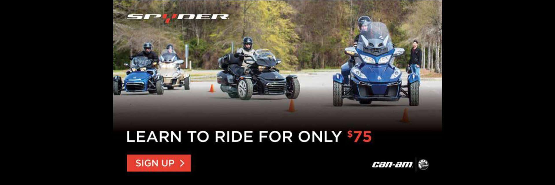 Can-Am Spyder Rider Education Program
