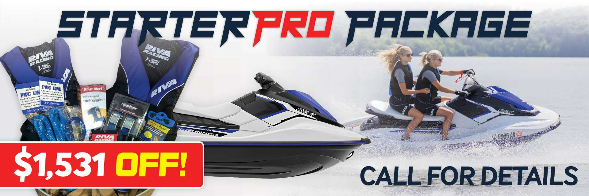 2018 Yamaha EX WaveRunner Starter Pro Package by RIVA