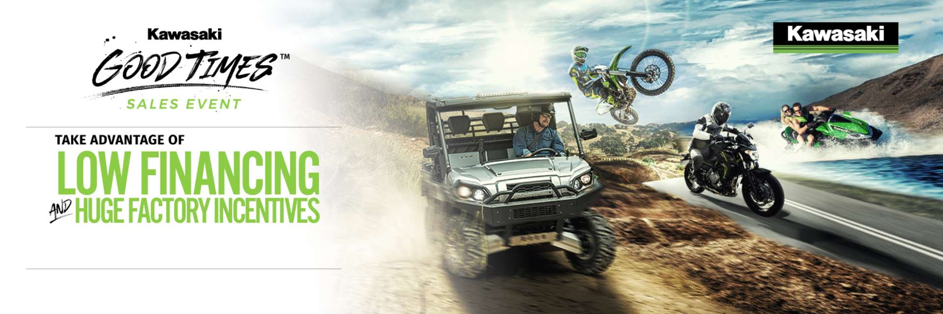 Kawasaki Let the Good Times Roll Sales Event Financing