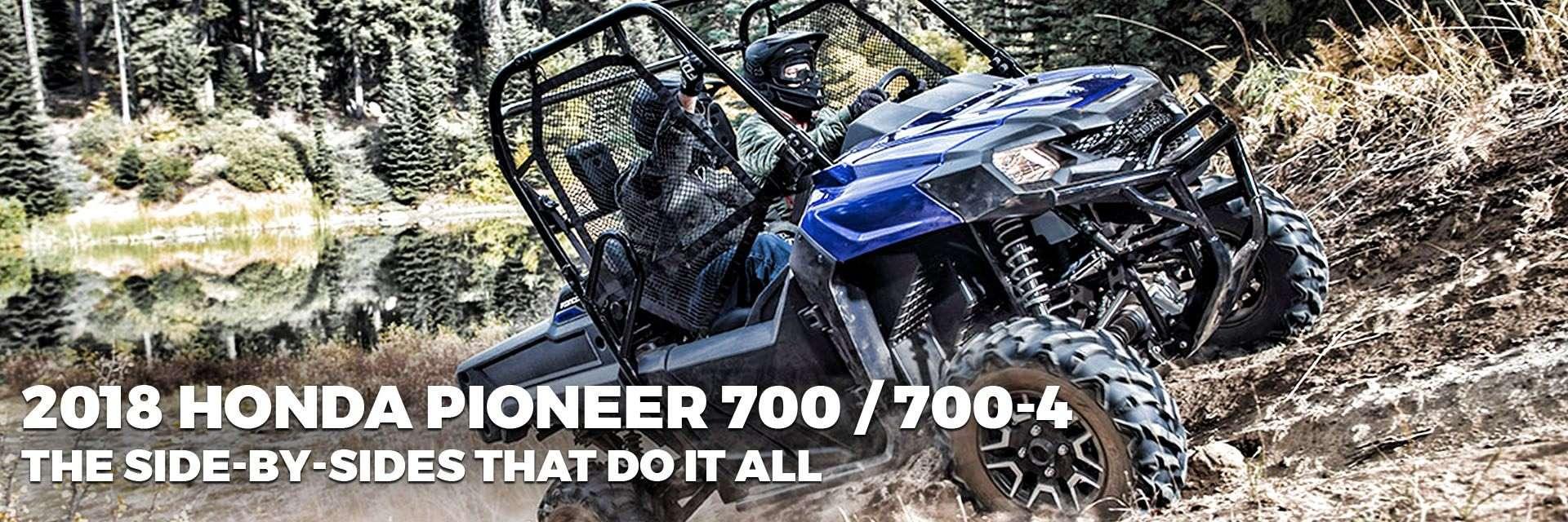 2018 Honda Pioneer 700 & 700-4 in-stock at Hap's Cycle Sales in Sarasota, FL