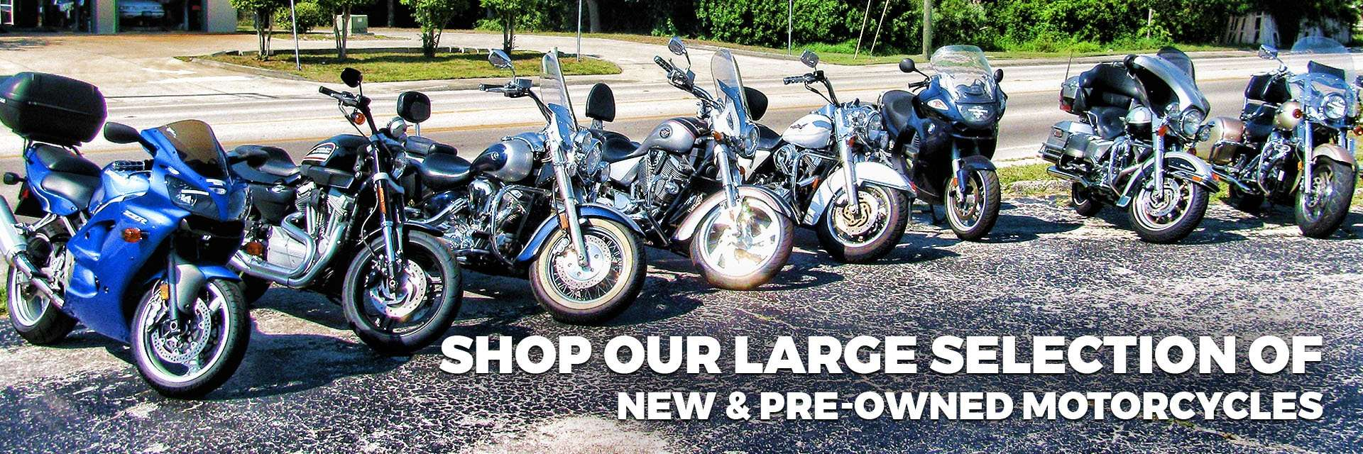 Shop our large selection of new & pre-owned motorcycles for sale at Hap's Cycle Sales in Sarasota, FL