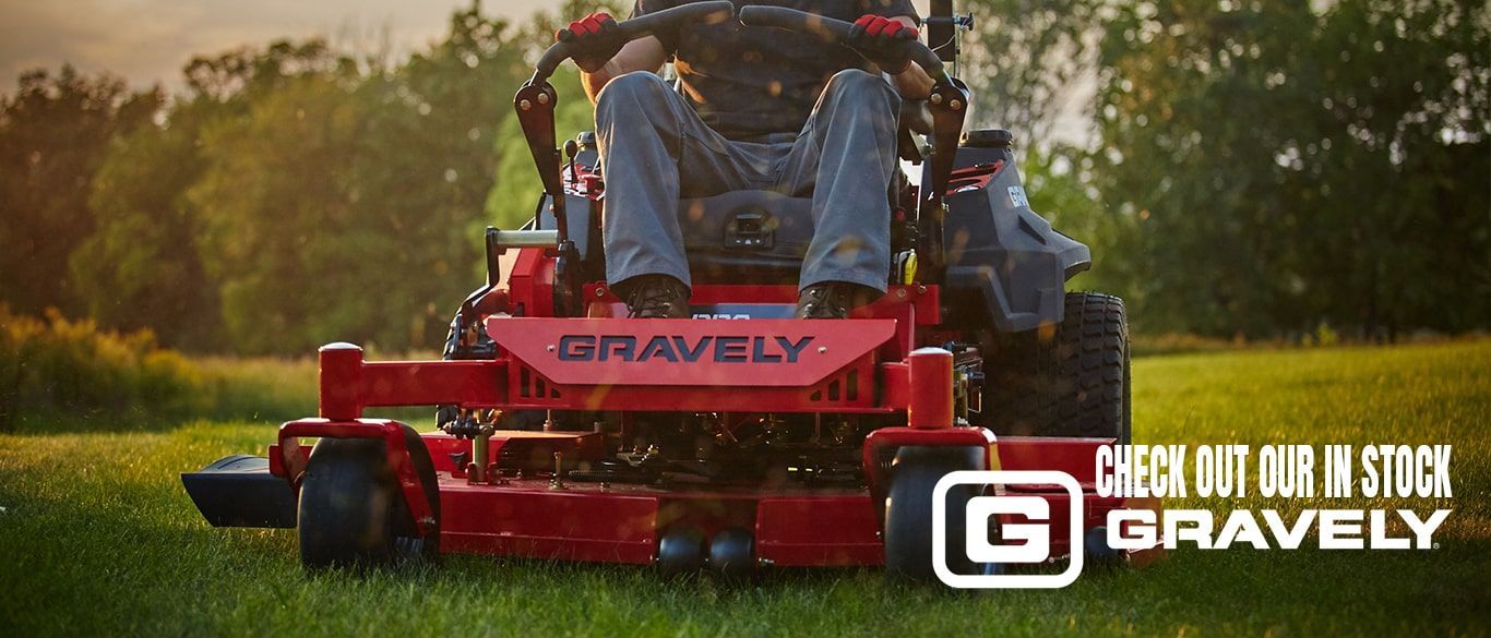 Check out our in Stock Gravely Mowers
