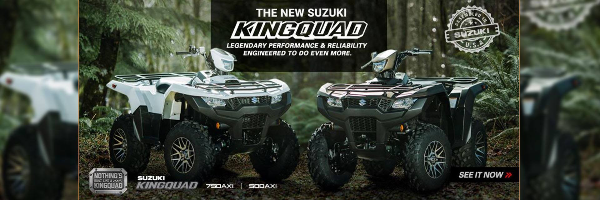 The All New Suzuki KingQuad Available at Waynesburg Yamaha