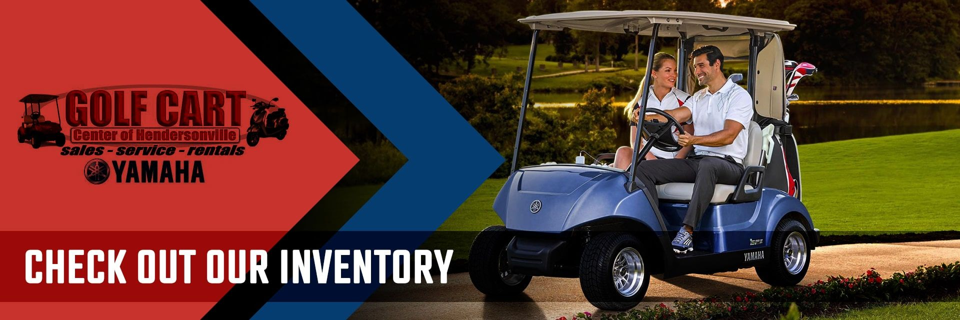 Full line up inventory at Golf Cart Center of Hendersonville, NC