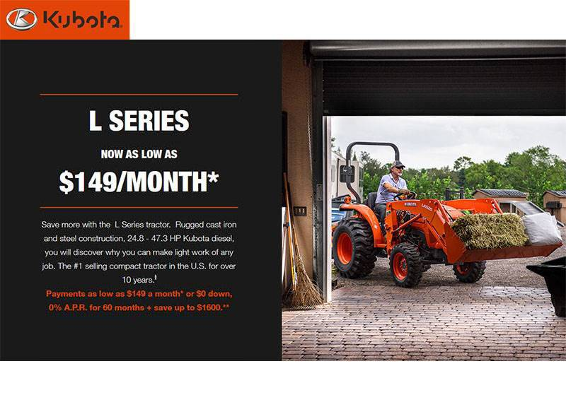 Kubota - L Series now as low as $149/month*