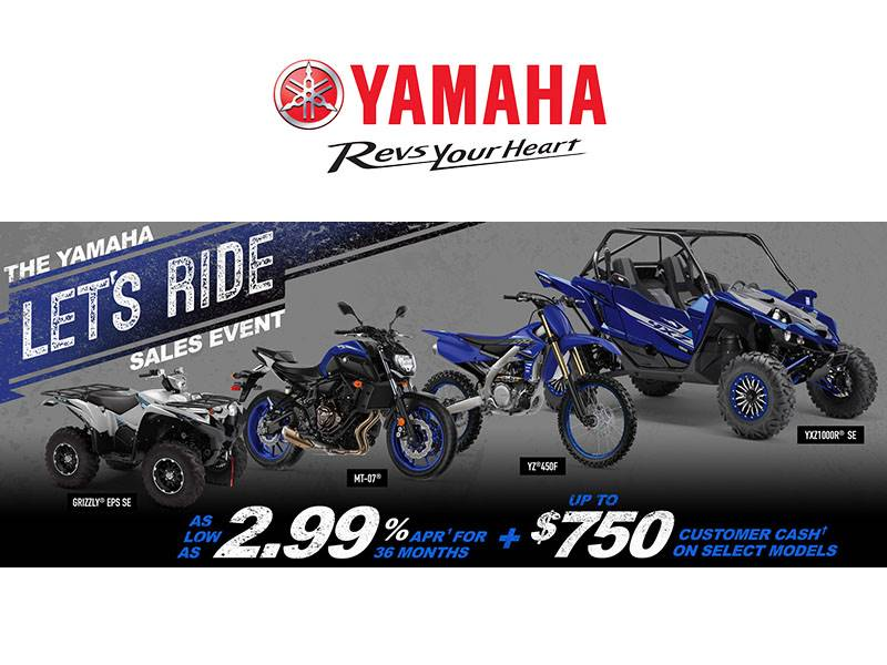 Yamaha Motor Corp., USA Yamaha - Let's Ride Sales Event - ATV