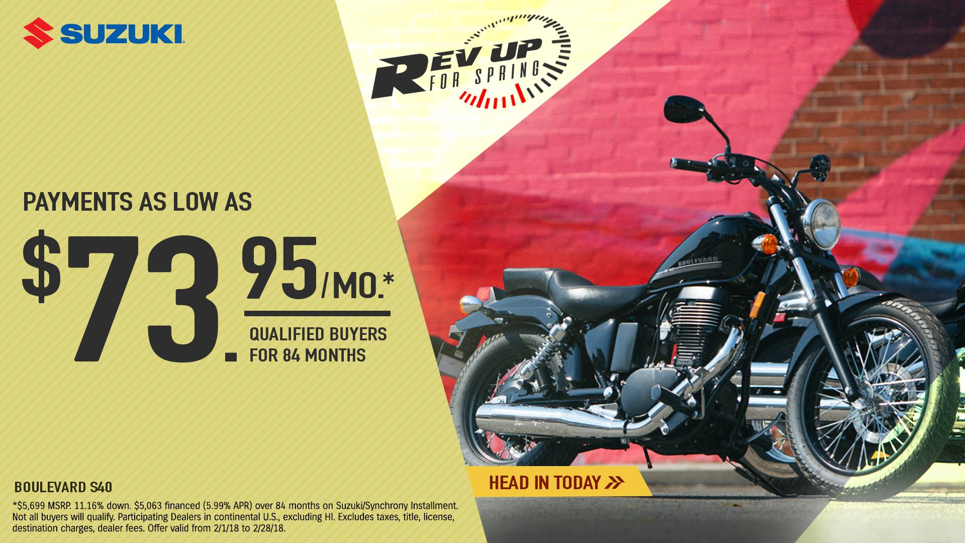 Suzuki Motor of America Inc. Suzuki - Rev Up for Spring for Cruiser and Touring